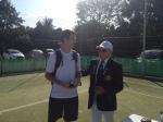 Mens Singles Winner Jack with John the President