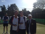 Mens Doubles Winners Chris & Jack with John the President
