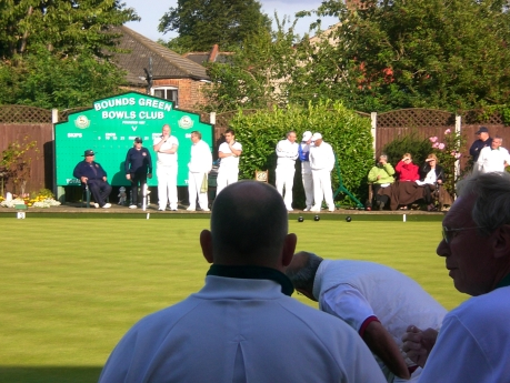 Busy day at the bowls club, sunshine on the green